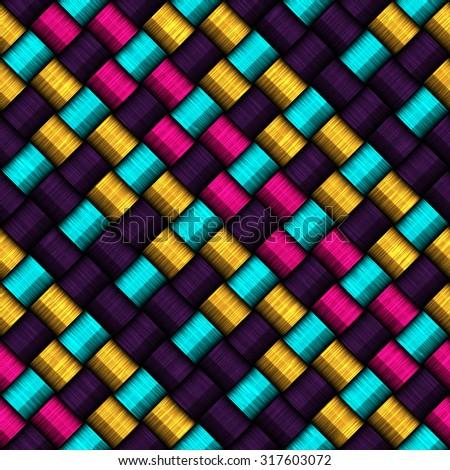Seamless rope weave pattern   - stock photo