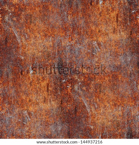 seamless rusty metal background texture iron old rust grunge steel metallic dirty brown wall - stock photo