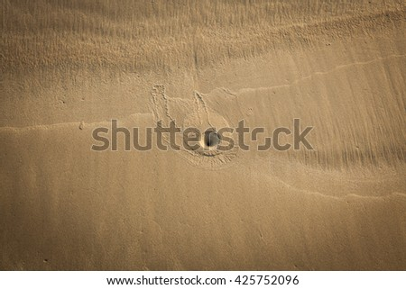 Seamless sand on a whole background and texture. - stock photo