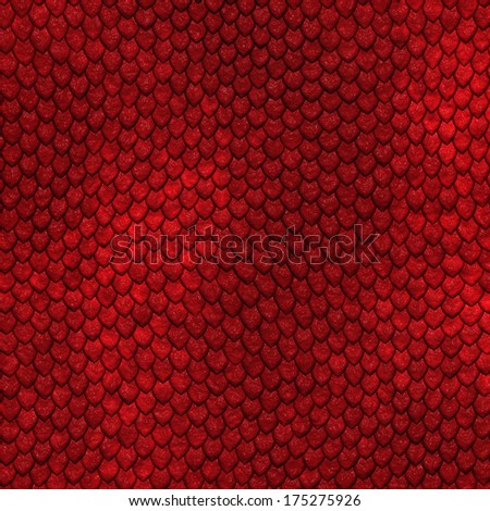 Seamless scale pattern - stock photo