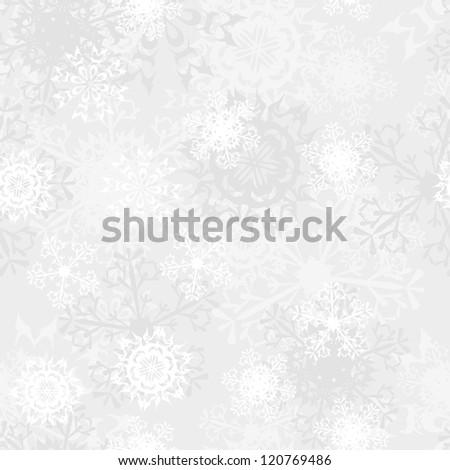 Seamless snowflake patterns for winter theme.  Raster version. - stock photo