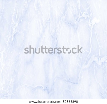 seamless soft blue marble texture - stock photo