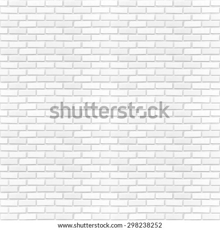 Seamless square white brick wall background. City Interior Clay Art Back Row New Modern Retro Old Vintage Texture Design Frame Home Rock Path Grey Gray Pool Room Bath Floor Tile Solid Clean Pure Empty - stock photo