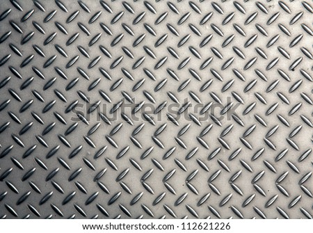 Seamless steel diamond plate texture - stock photo