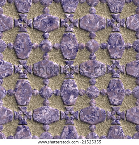 Seamless stone grate pattern. Good for replicate.