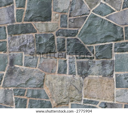 Seamless stone wall texture. - stock photo