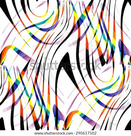 Seamless striped colorful grunge halftone texture. Ink grunge brush. Illustration background.  - stock photo