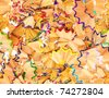 Seamless structure from a color shaving of pencils - stock photo