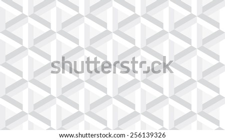 Seamless subtle gray retro op art hex construction optical illusion pattern - stock photo