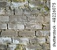 Seamless texture from gray dirty moldy brick wall - stock photo