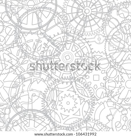 Seamless texture from the time gears - illustration - stock photo