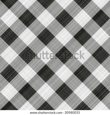seamless texture of black, grey and white blocked tartan cloth