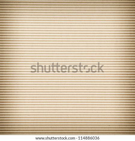 seamless texture of brown corrugate cardboard - stock photo
