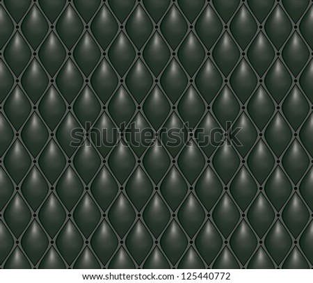 Seamless texture of expensive black leather (natural). Royal style. Volumetric background.
