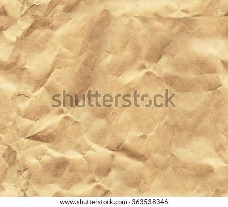 Seamless texture of the old, crumpled paper. Endless texture can be used for wallpaper, pattern fills, web page background, surface textures - stock photo