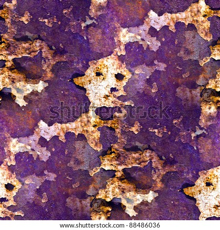 seamless texture purple of rusty colored rough - stock photo