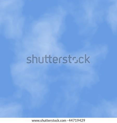 Seamless texture sky background - stock photo