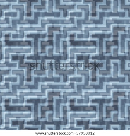 Seamless texture with blue tiles