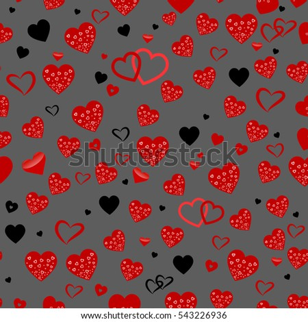 Wallpaper You Can Color seamless vector texture red hearts you stock vector 543205645