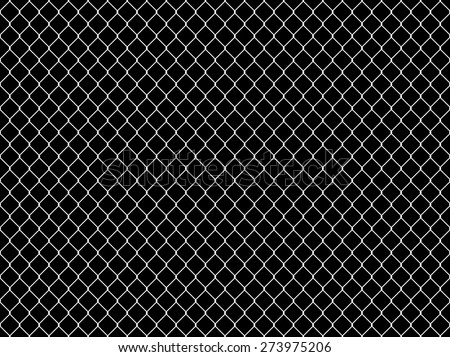 Seamless Tileable Chain Link Fence Alpha/Selection Mask - stock photo