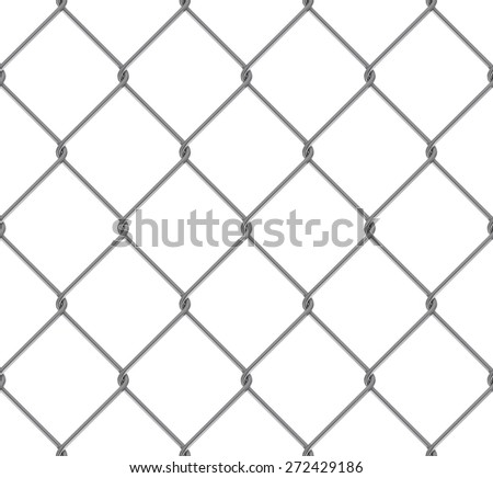 Seamless Tileable High Resolution Steel Chain Link Fence Texture - stock photo