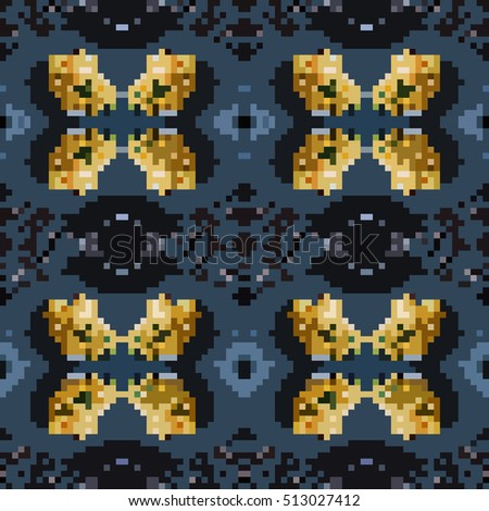 seamless tileable pixel texture pattern