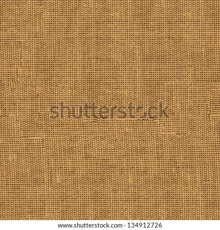Seamless Tileable Texture of Old Brown Fabric Surface. - stock photo
