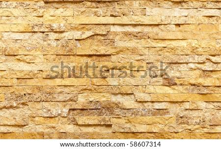Seamless travertine stone wall texture - stock photo
