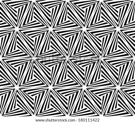 Seamless Triangle Elements Pattern. Rasterized Version - stock photo