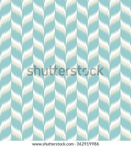Seamless tribal chevron pattern. Great interior or fabric texture in light blue, white and natural grey colors. - stock photo