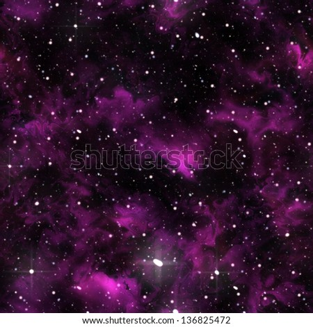 Seamless universe texture (computer graphic, big collection) - stock photo