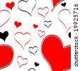 Seamless valentine's pattern - stock vector