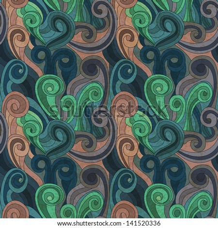 seamless vector waves pattern