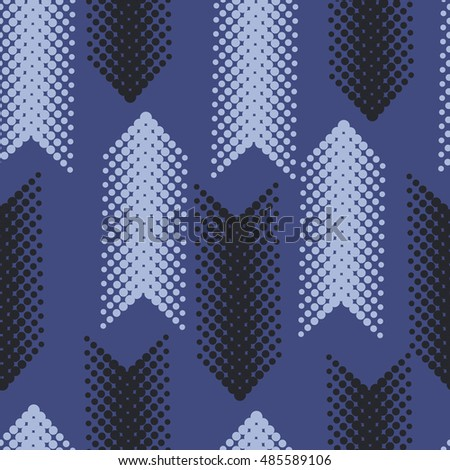 Seamless Vertical Arrows Pattern Halftone Dots Font Dirty Grunge Color