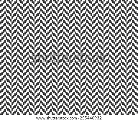 Seamless vintage pixel herringbone pattern - stock photo