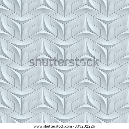 seamless wall panels 3d background - stock photo