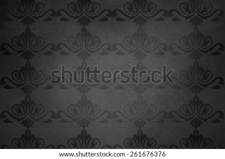 Seamless wallpaper pattern, black background