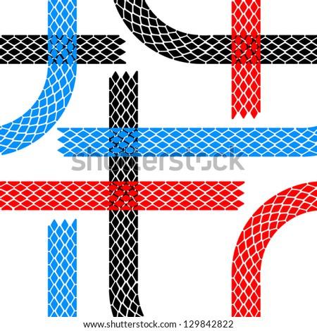 Seamless wallpaper tire tracks pattern illustration  background - stock photo