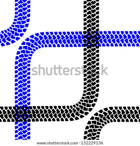 Seamless wallpaper tire tracks pattern illustration stock vector 130637528 shutterstock - Tire tread wallpaper ...