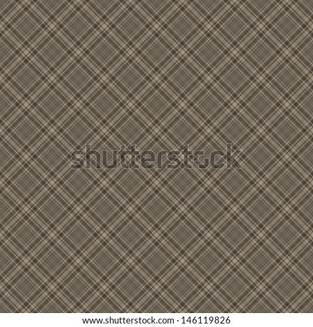 Seamless Warm Neutral Diagonal Plaid - stock photo