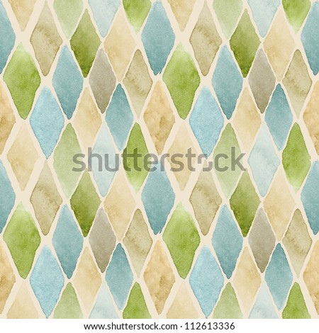 Seamless watercolor pattern #1 - stock photo