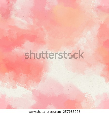 Seamless watercolor wash pattern on paper texture. Abstract background  - stock photo