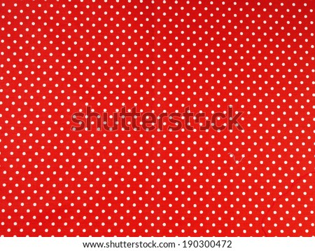Seamless white and red polka dot background - stock photo