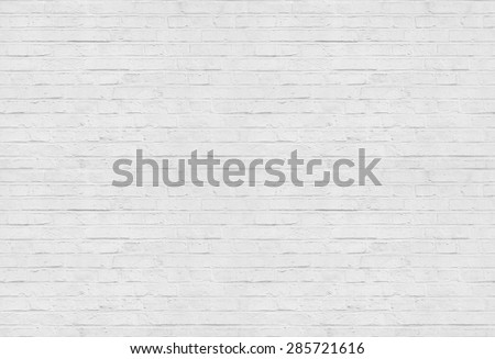 Seamless white brick wall pattern background - stock photo