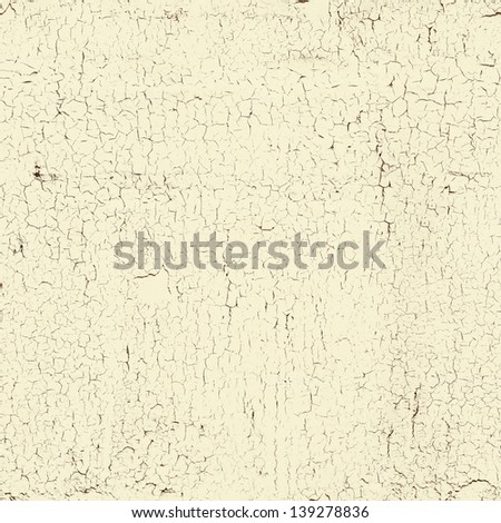 seamless white cracked paint grunge background, texture - stock photo
