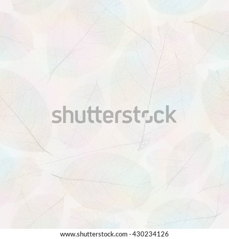 Seamless withered leafs pattern background. - stock photo