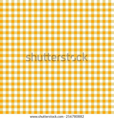 Seamless Yellow Checkered Tablecloth Pattern