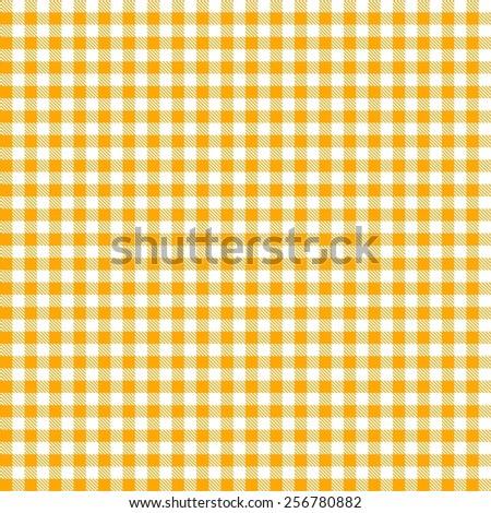 Seamless yellow checkered tablecloth pattern  - stock photo