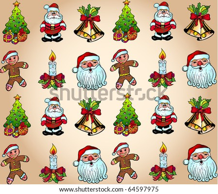 Seamlessly Christmas Wallpaper With Various Design Elements