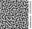 Seamlessly repeatable Maze - stock vector